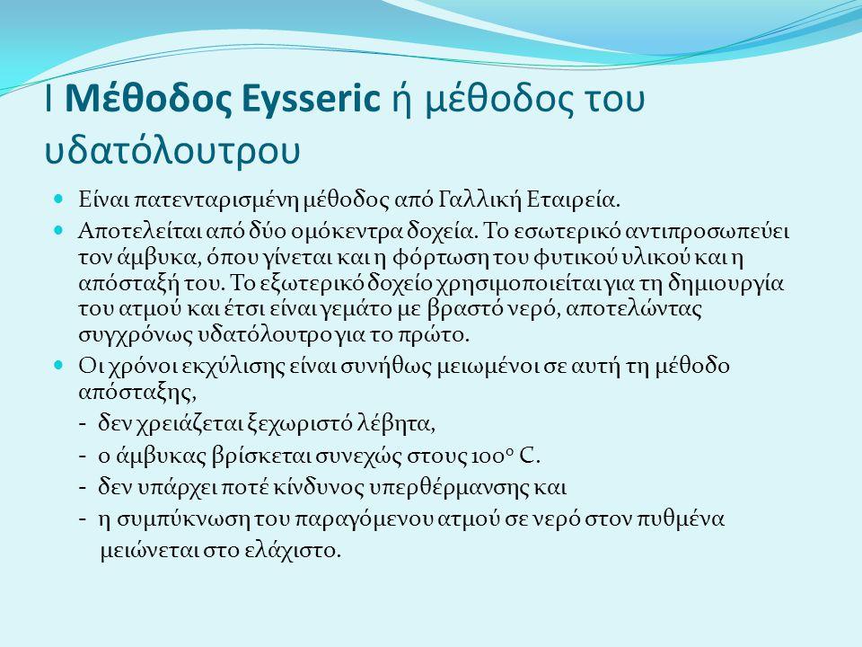 Ι Μέθοδος Eysseric ή μέθοδος του υδατόλουτρου