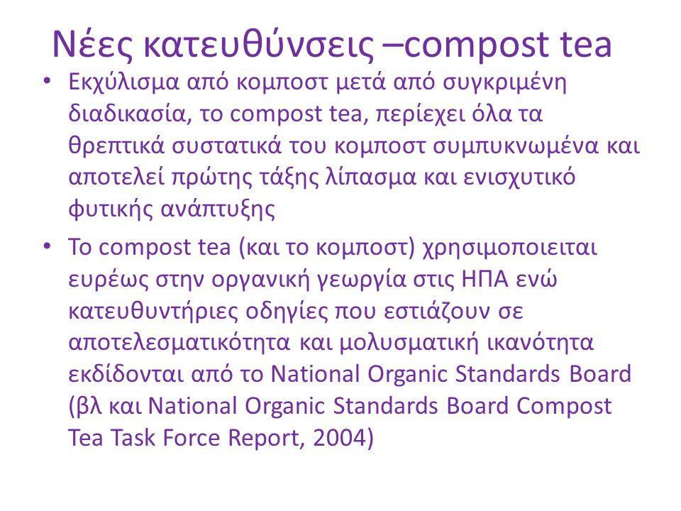 Νέες κατευθύνσεις –compost tea