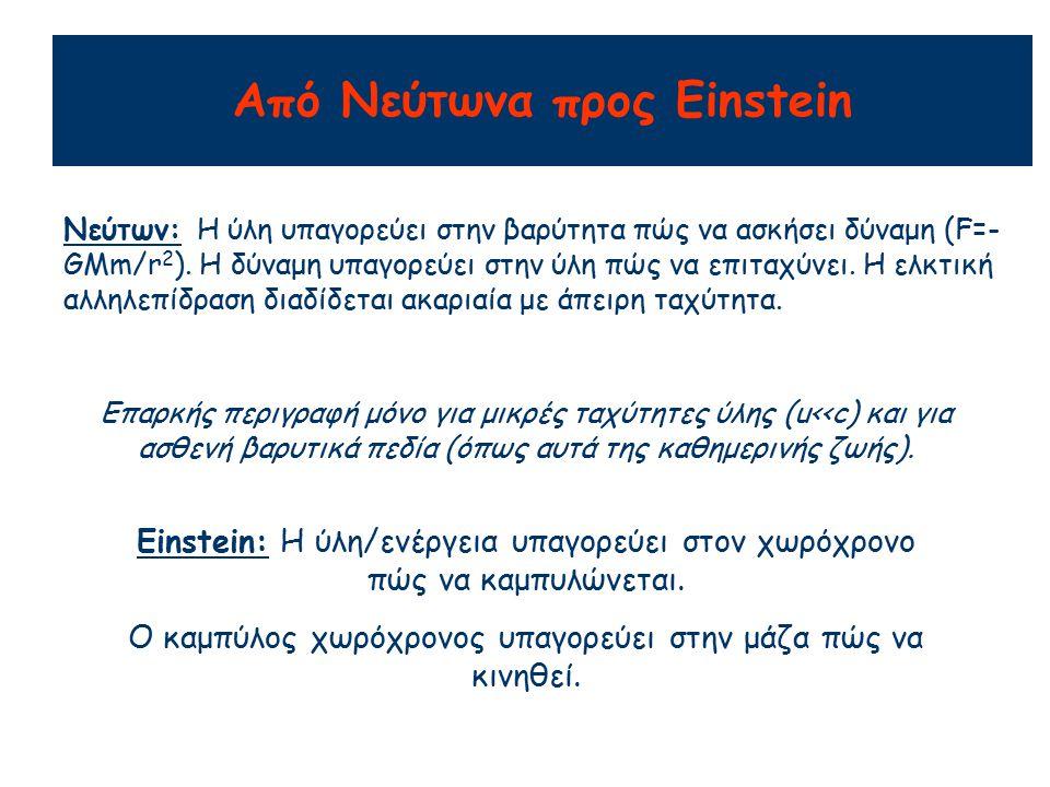 Από Νεύτωνα προς Einstein