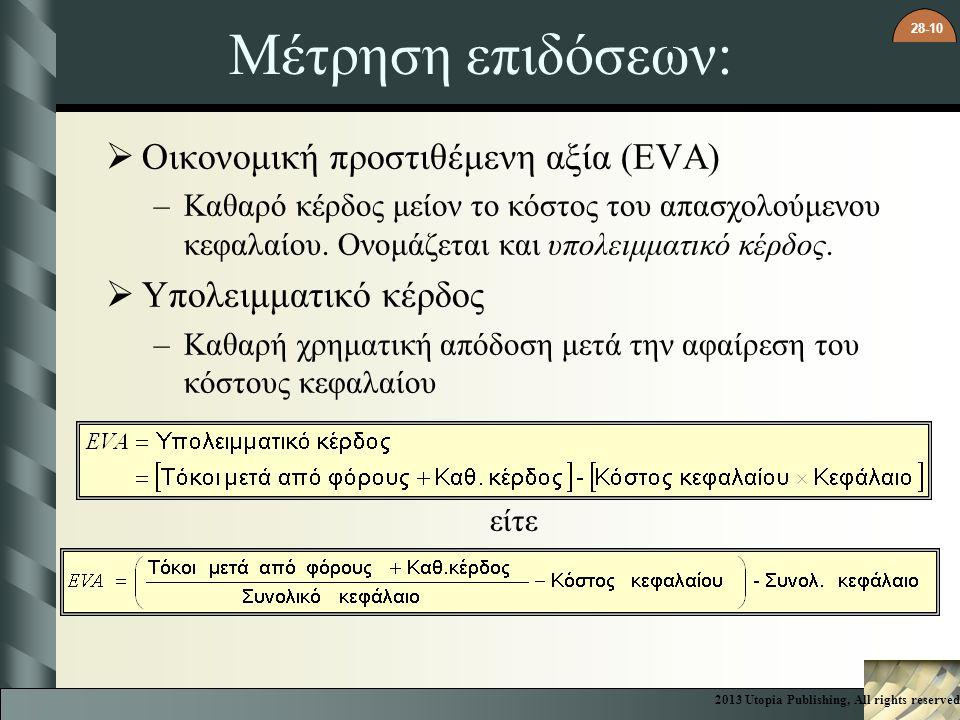 Μέτρηση επιδόσεων: Οικονομική προστιθέμενη αξία (EVA)