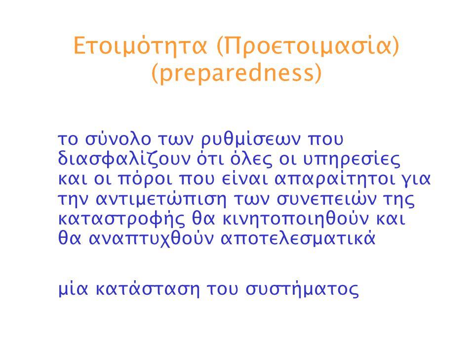 Ετοιμότητα (Προετοιμασία) (preparedness)
