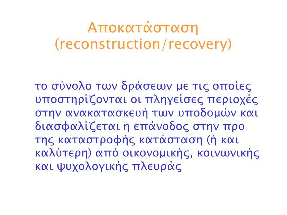 Αποκατάσταση (reconstruction/recovery)