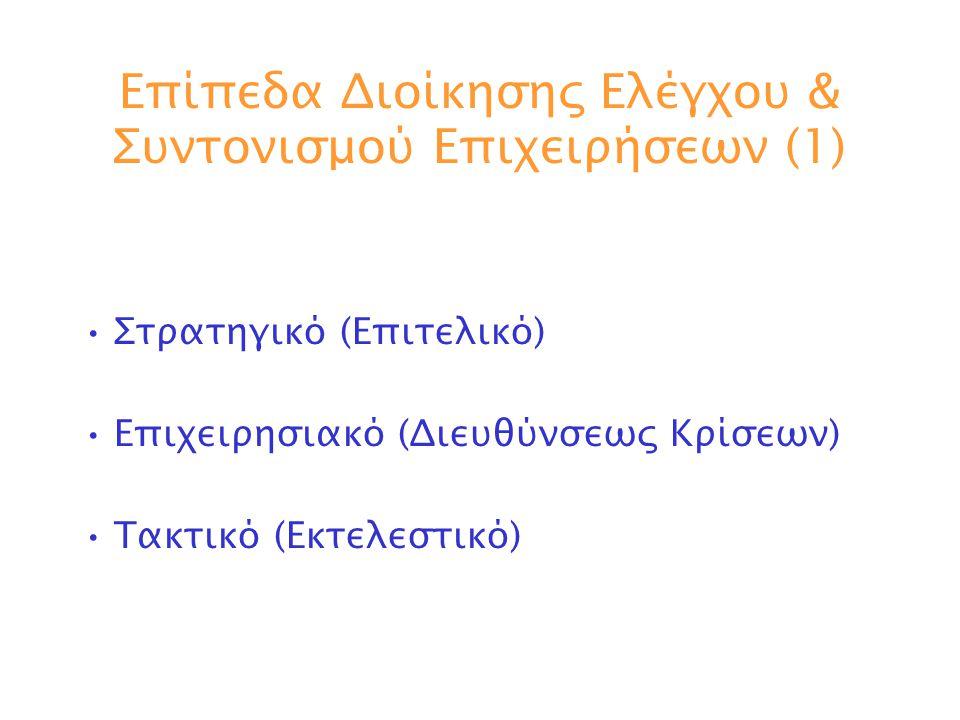 Επίπεδα Διοίκησης Ελέγχου & Συντονισμού Επιχειρήσεων (1)