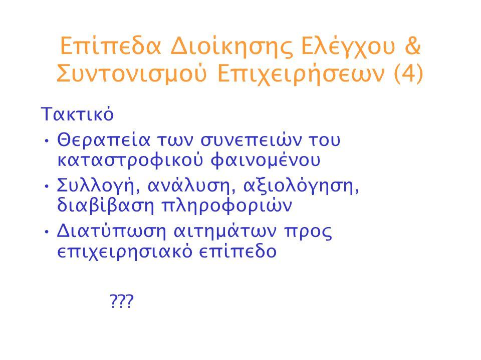 Επίπεδα Διοίκησης Ελέγχου & Συντονισμού Επιχειρήσεων (4)
