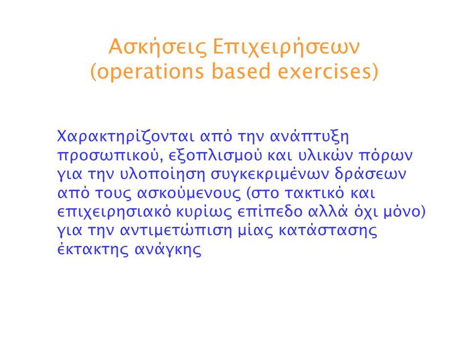 Ασκήσεις Επιχειρήσεων (operations based exercises)