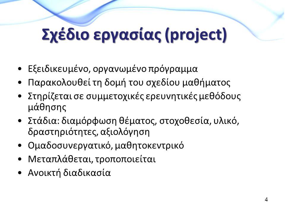 Σχέδιο εργασίας (project)
