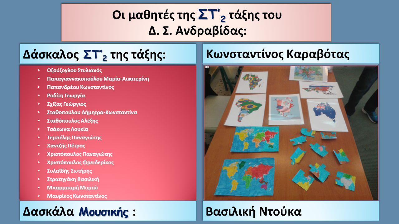 Οι μαθητές της ΣΤ'2 τάξης του Δ. Σ. Ανδραβίδας: