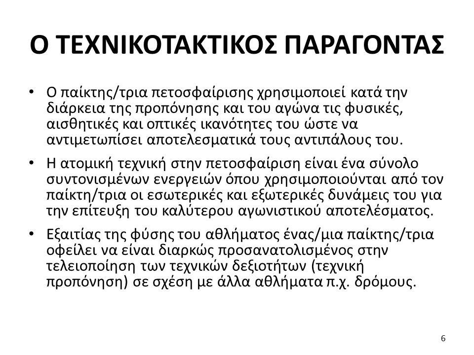 Ο ΤΕΧΝΙΚΟΤΑΚΤΙΚΟΣ ΠΑΡΑΓΟΝΤΑΣ