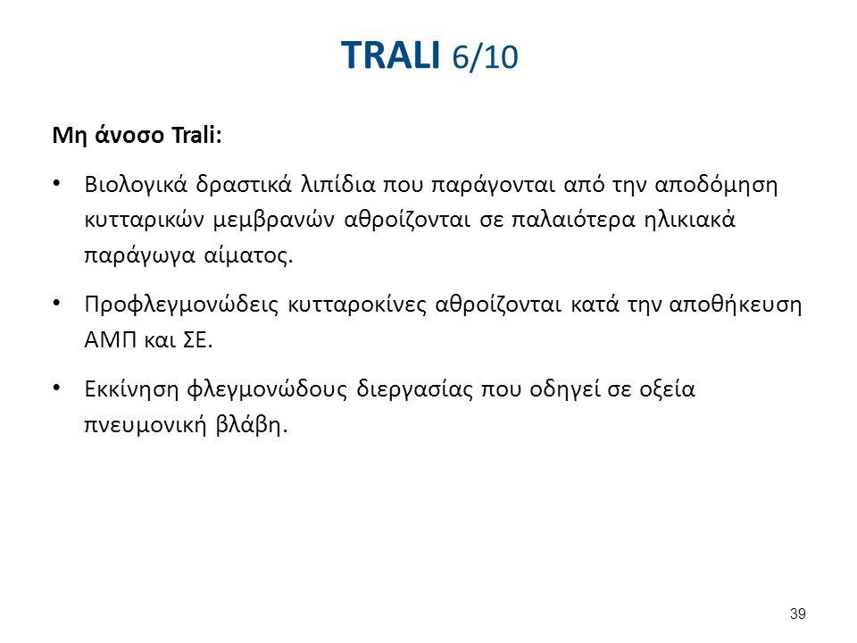 TRALI 7/10 Συμπτώματα και σημεία Πυρετός με ή χωρίς ρίγος. Υπόταση.