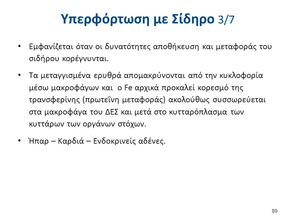 Υπερφόρτωση με Σίδηρο 4/7