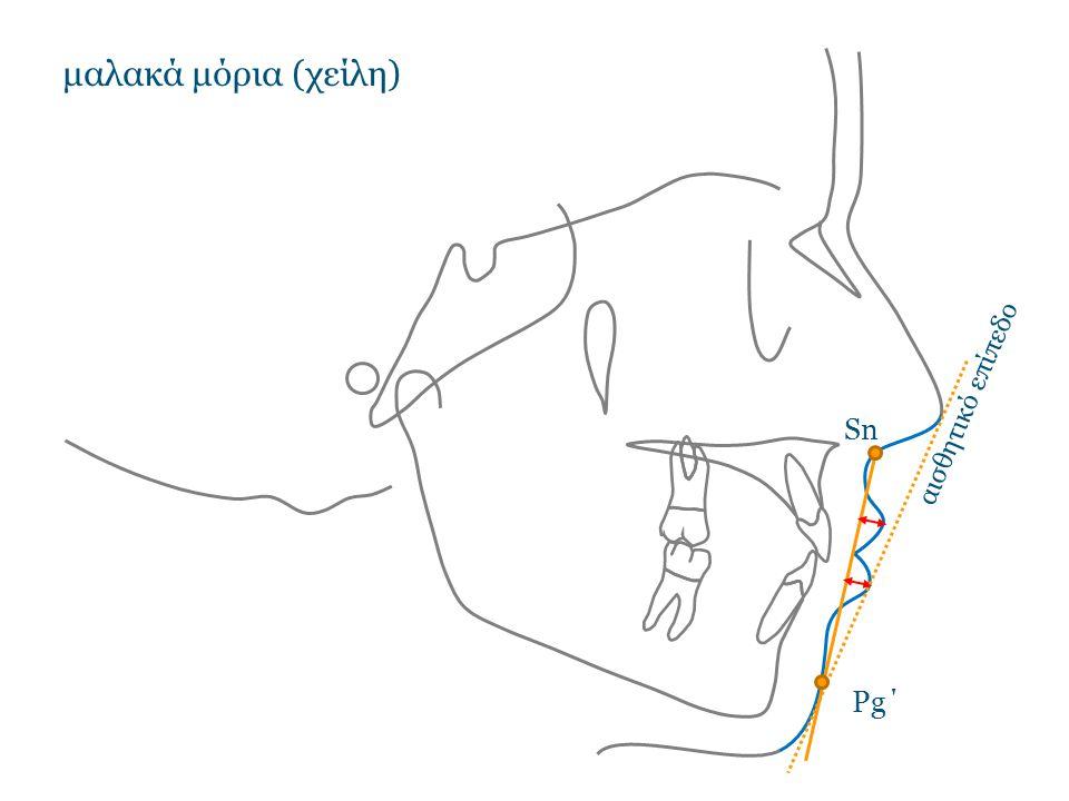 μαλακά μόρια (χείλη) αισθητικό επίπεδο Sn Pg΄