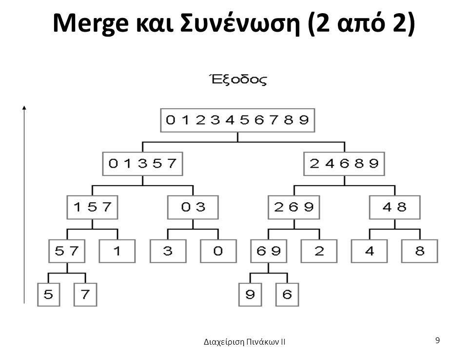 Merge και Συνένωση (2 από 2)