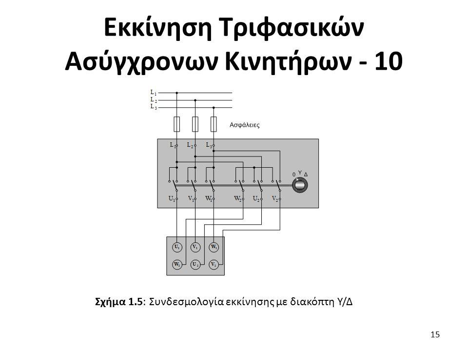 Εκκίνηση Τριφασικών Ασύγχρονων Κινητήρων - 10
