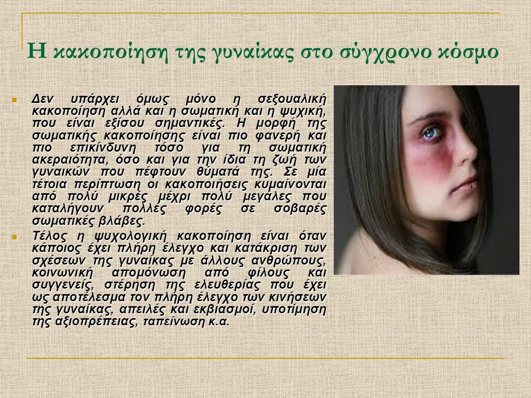 Η κακοποίηση της γυναίκας στο σύγχρονο κόσμο