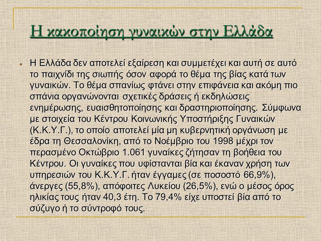 Η κακοποίηση γυναικών στην Ελλάδα