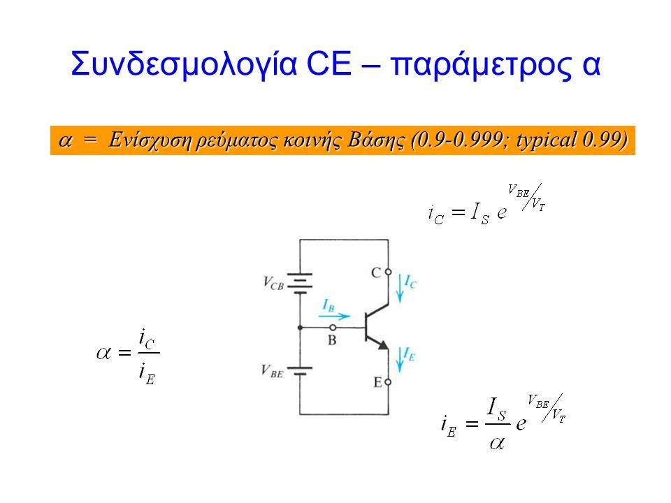 Συνδεσμολογία CE – παράμετρος α