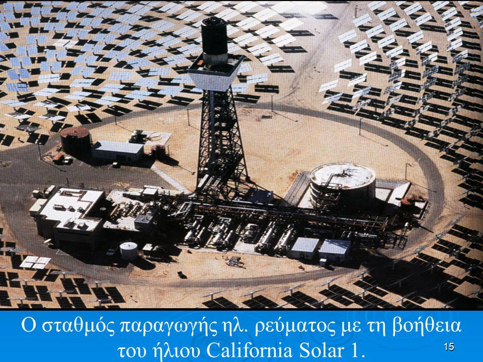 Ο σταθμός παραγωγής ηλ. ρεύματος με τη βοήθεια του ήλιου California Solar 1.