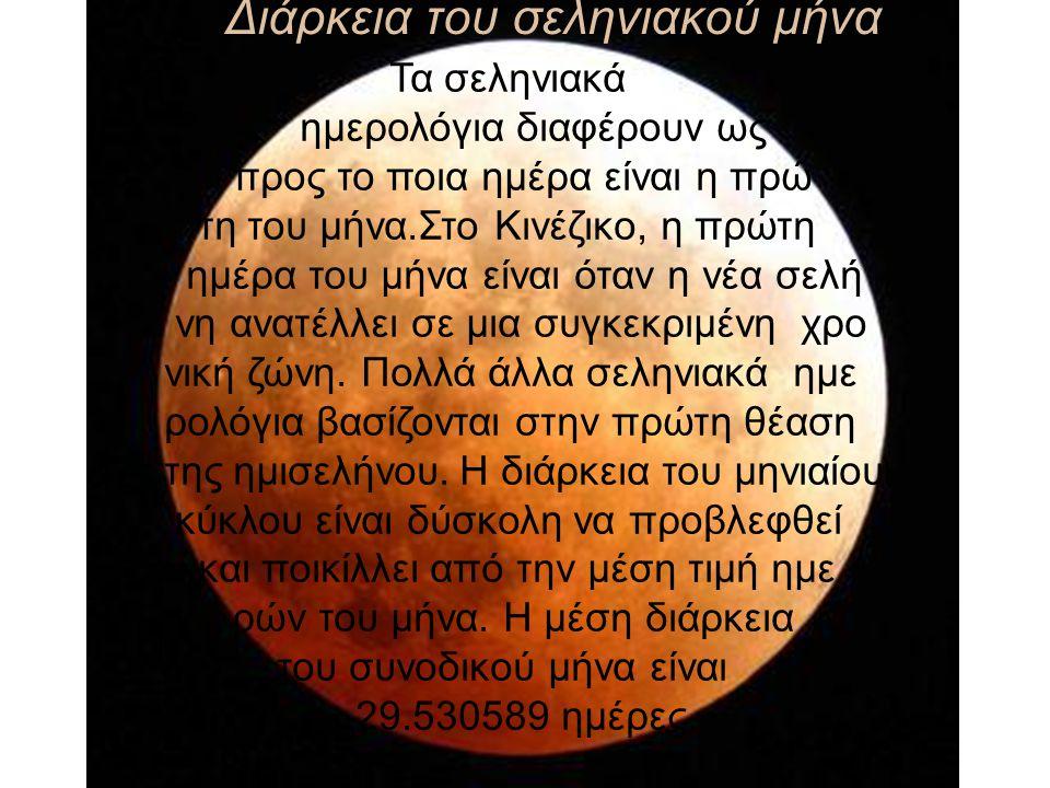 Διάρκεια του σεληνιακού μήνα