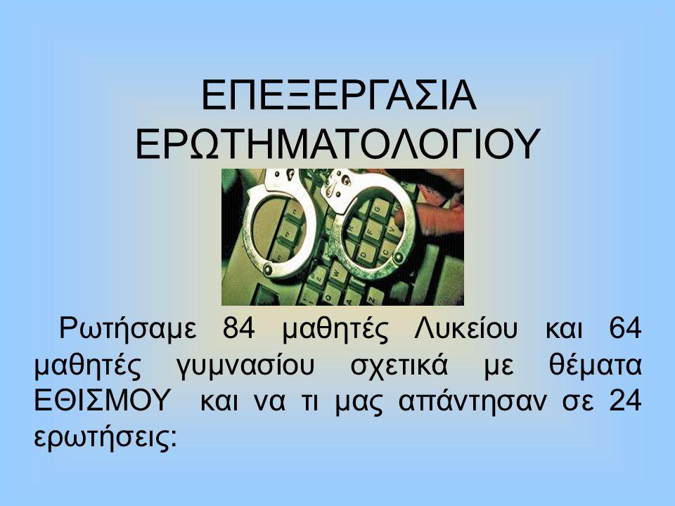ΕΠΕΞΕΡΓΑΣΙΑ ΕΡΩΤΗΜΑΤΟΛΟΓΙΟΥ