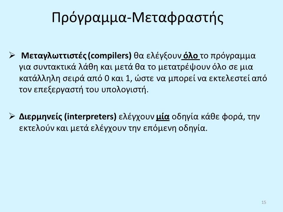 Πρόγραμμα-Μεταφραστής