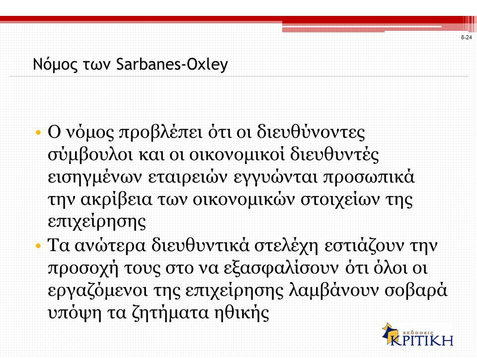 Νόμος των Sarbanes-Oxley