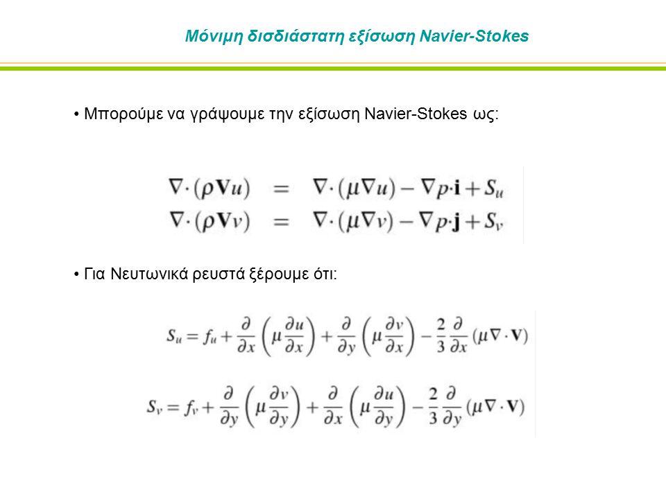 Μόνιμη δισδιάστατη εξίσωση Navier-Stokes