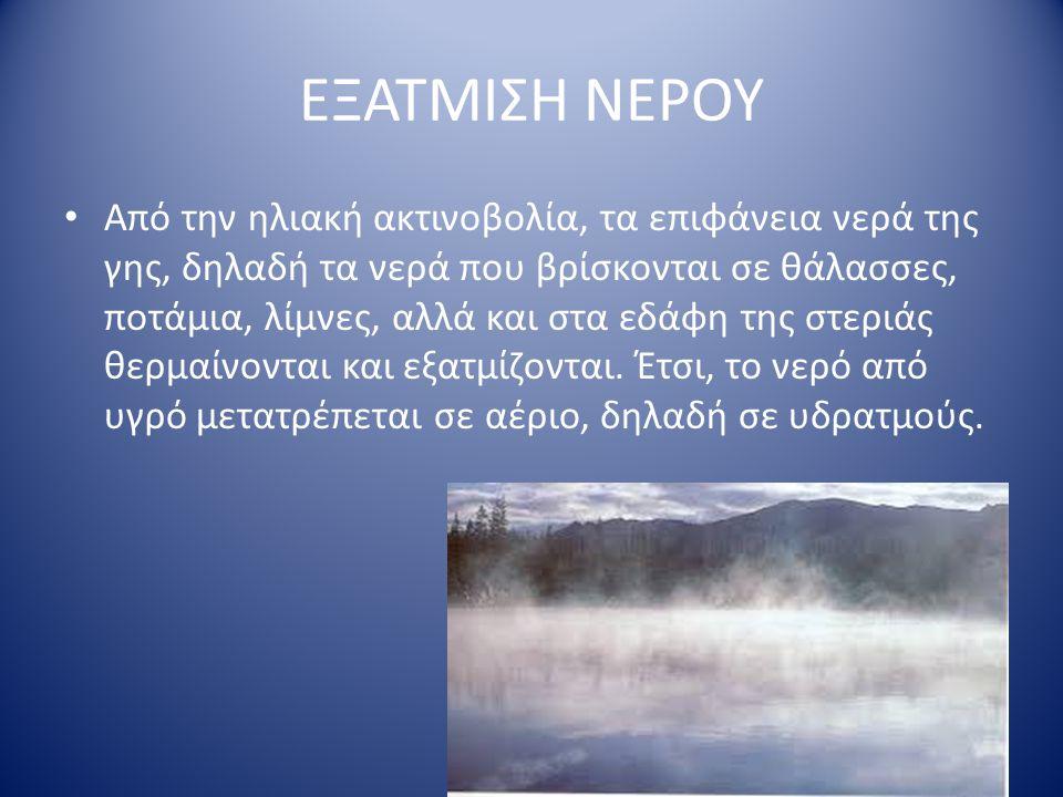 ΕΞΑΤΜΙΣΗ ΝΕΡΟΥ