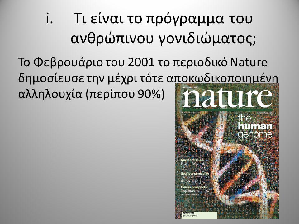 Τι είναι το πρόγραμμα του ανθρώπινου γονιδιώματος;