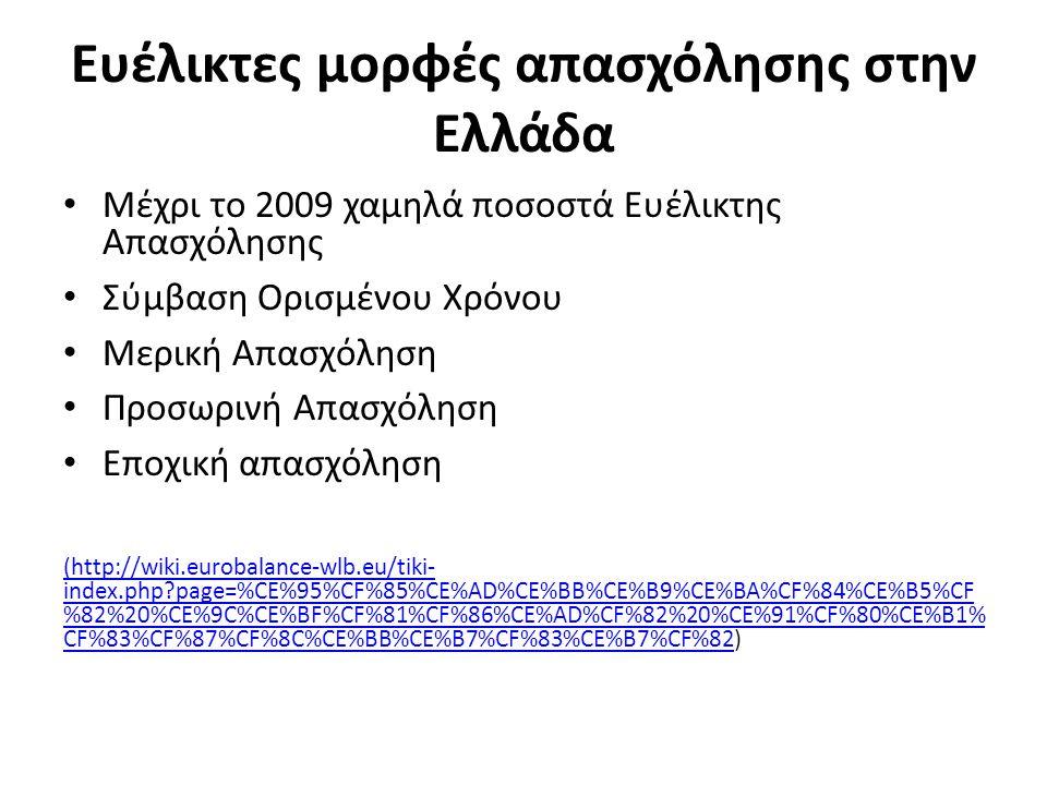 Ευέλικτες μορφές απασχόλησης στην Ελλάδα