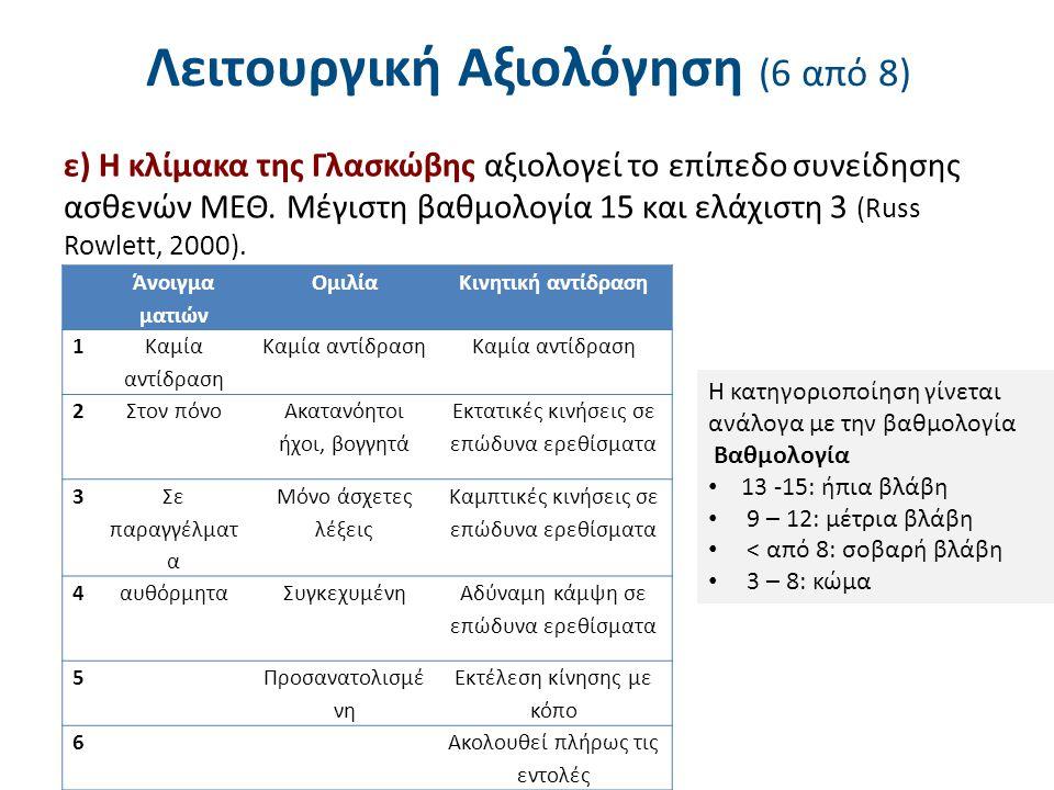 Λειτουργική Αξιολόγηση (7 από 8)
