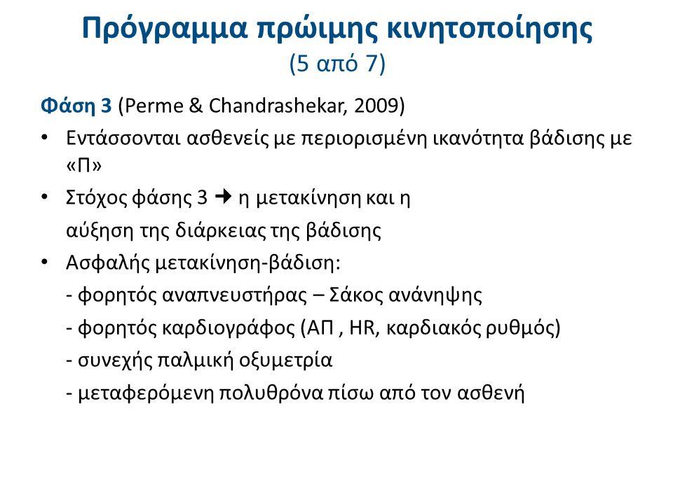 Πρόγραμμα πρώιμης κινητοποίησης (6 από 7)