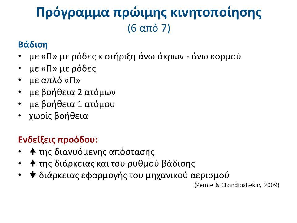 Πρόγραμμα πρώιμης κινητοποίησης (7 από 7)