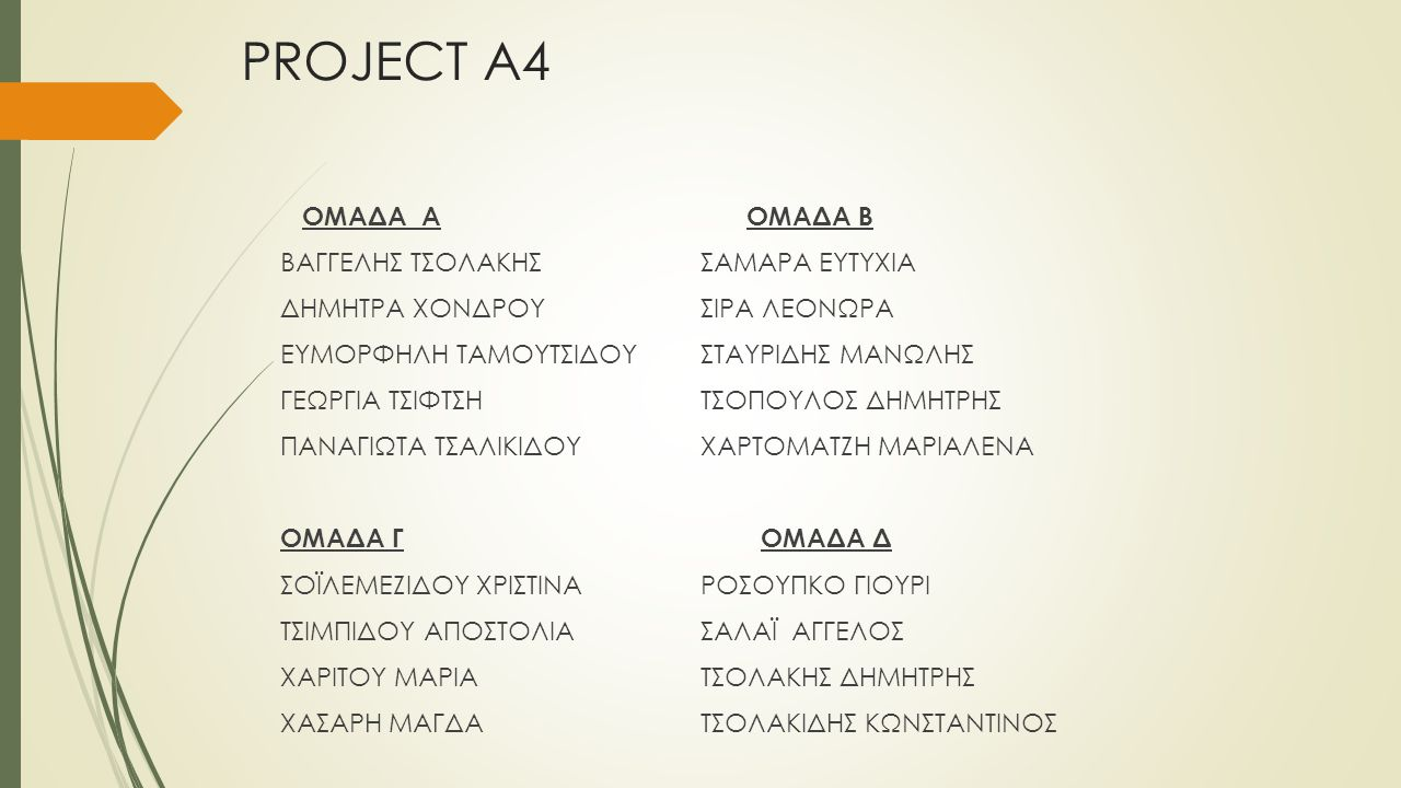 PROJECT Α4