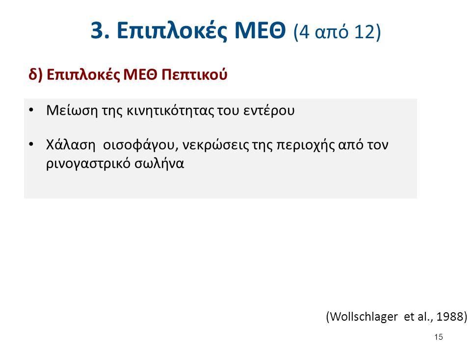 3. Επιπλοκές ΜΕΘ (5 από 12) ε) Επιπλοκές ΜΕΘ Νευρικού