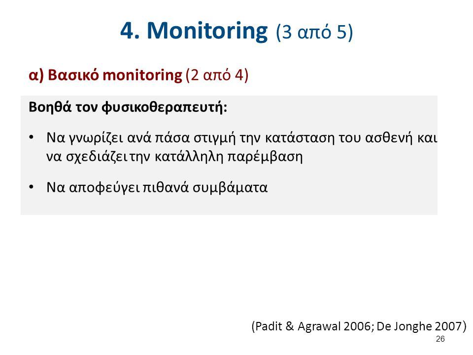 4. Monitoring (4 από 5) α) Βασικό monitoring (3 από 4)