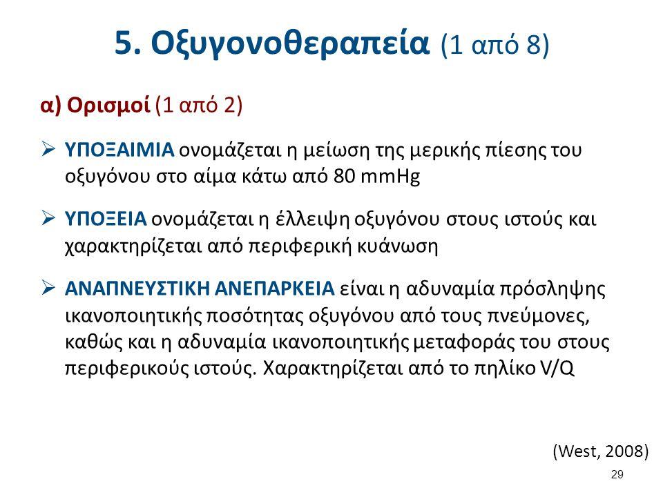 5. Οξυγονοθεραπεία (2 από 8)