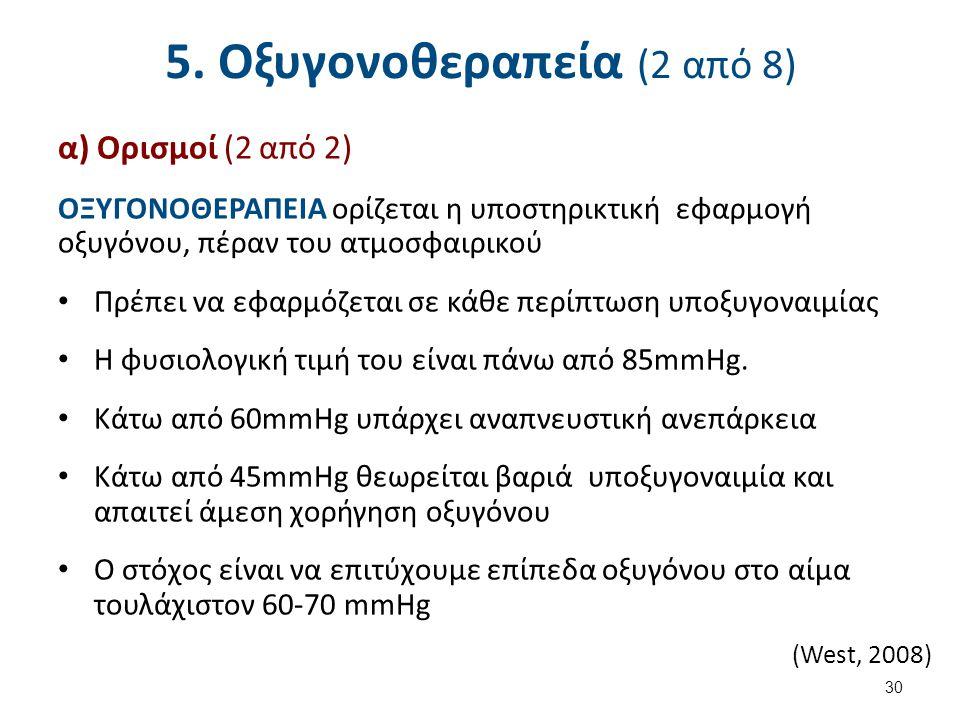 5. Οξυγονοθεραπεία (3 από 8)