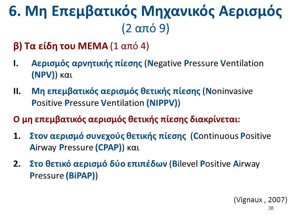 6. Μη Επεμβατικός Μηχανικός Αερισμός (3 από 9)