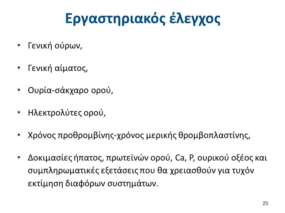 Παρακλινικός έλεγχος Α/α θώρακος,