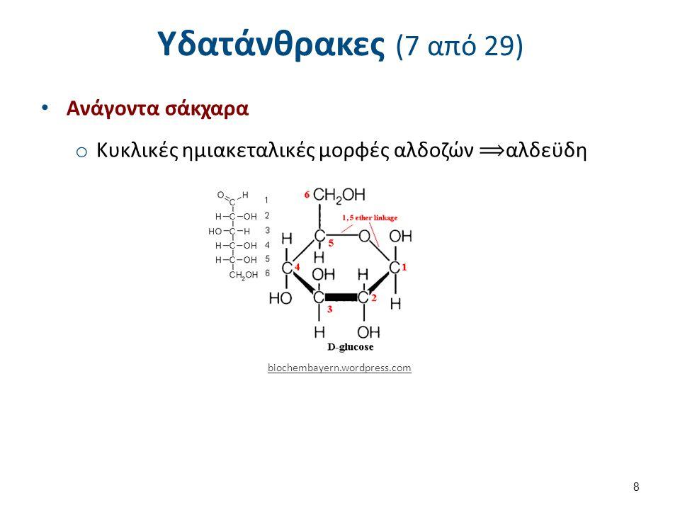 Υδατάνθρακες (7 από 29) Ανάγοντα σάκχαρα