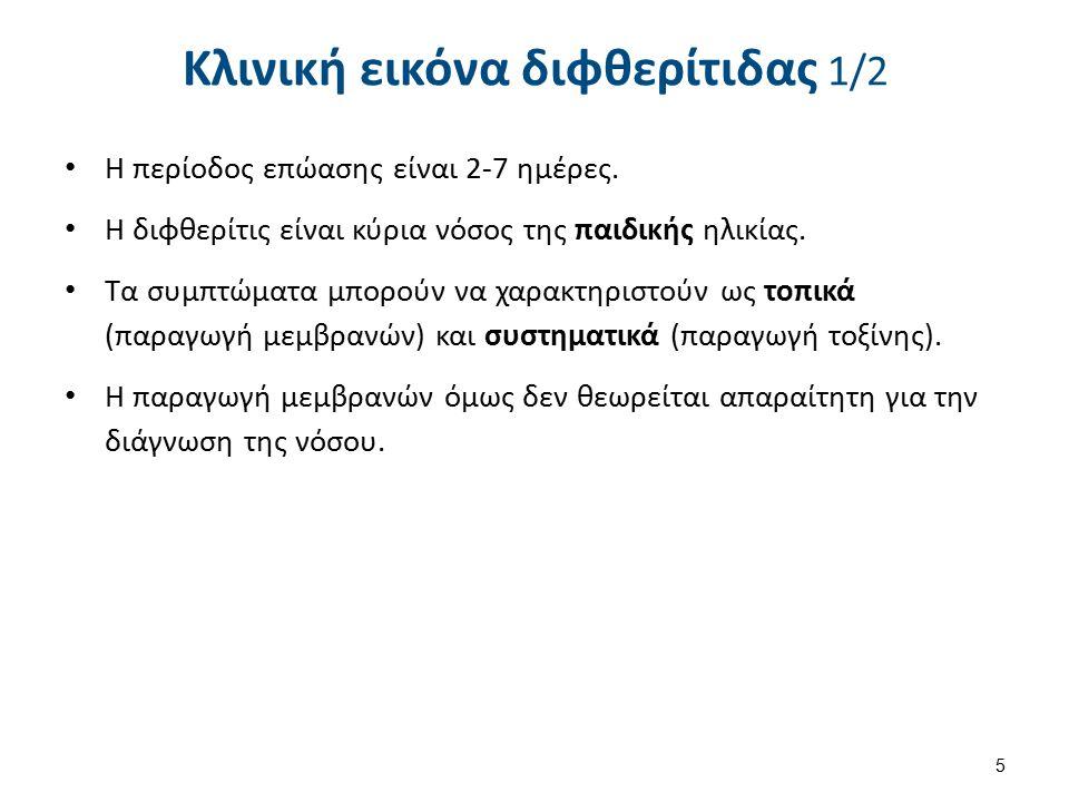 Κλινική εικόνα διφθερίτιδας 2/2