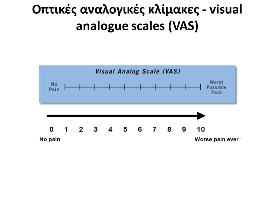 Οπτική Αναλογική κλίμακα - Visual Analog Scale Μη κατηγορική κλίμακα