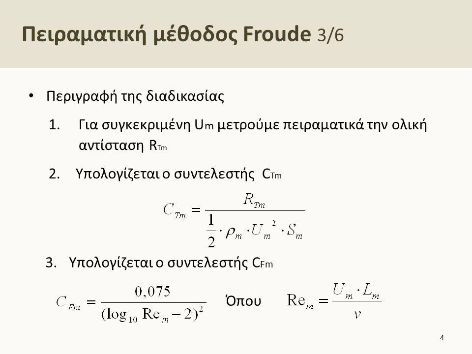 Πειραματική μέθοδος Froude 4/6