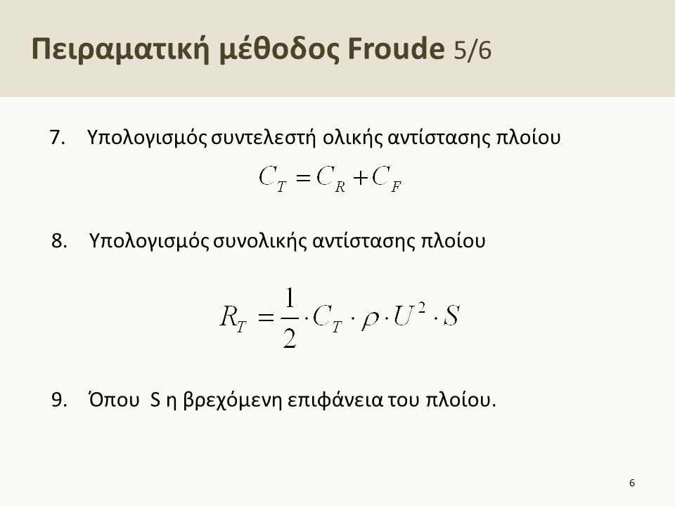 Πειραματική μέθοδος Froude 6/6
