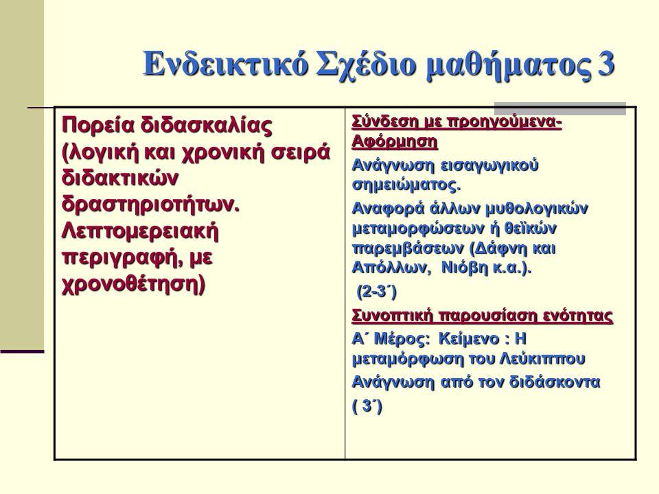 Ενδεικτικό Σχέδιο μαθήματος 3