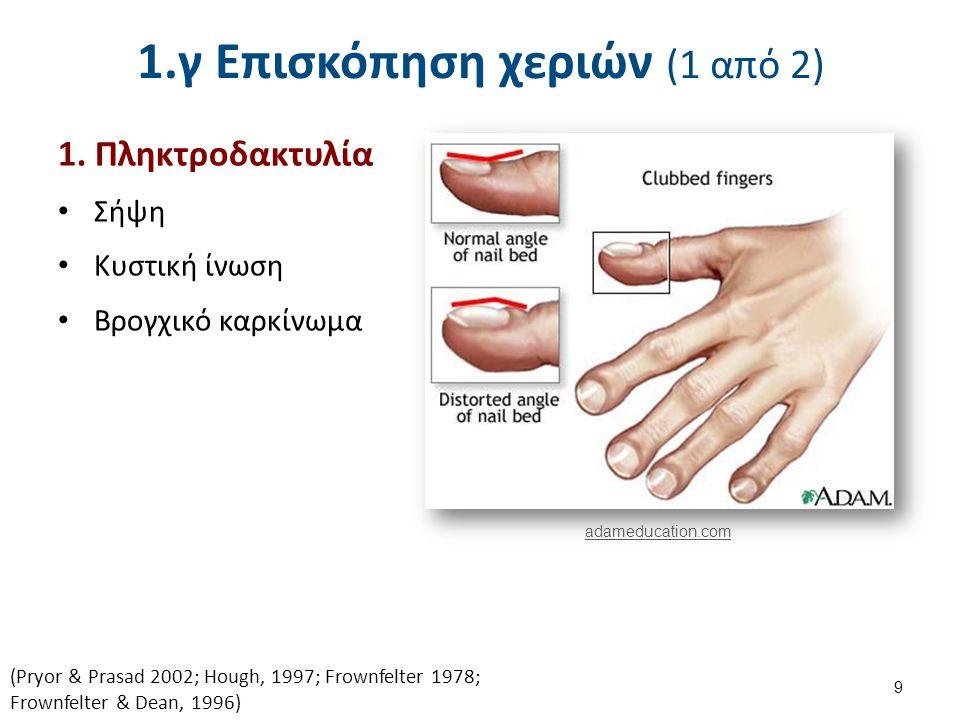 1.γ Επισκόπηση χεριών (2 από 2)