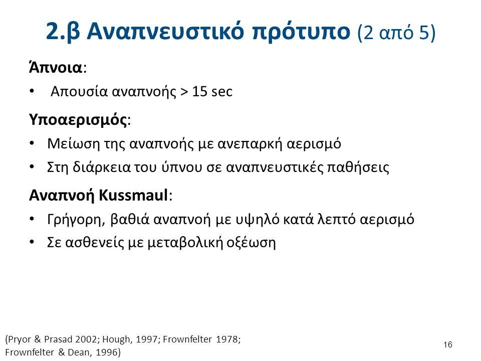 2.β Αναπνευστικό πρότυπο (3 από 5)