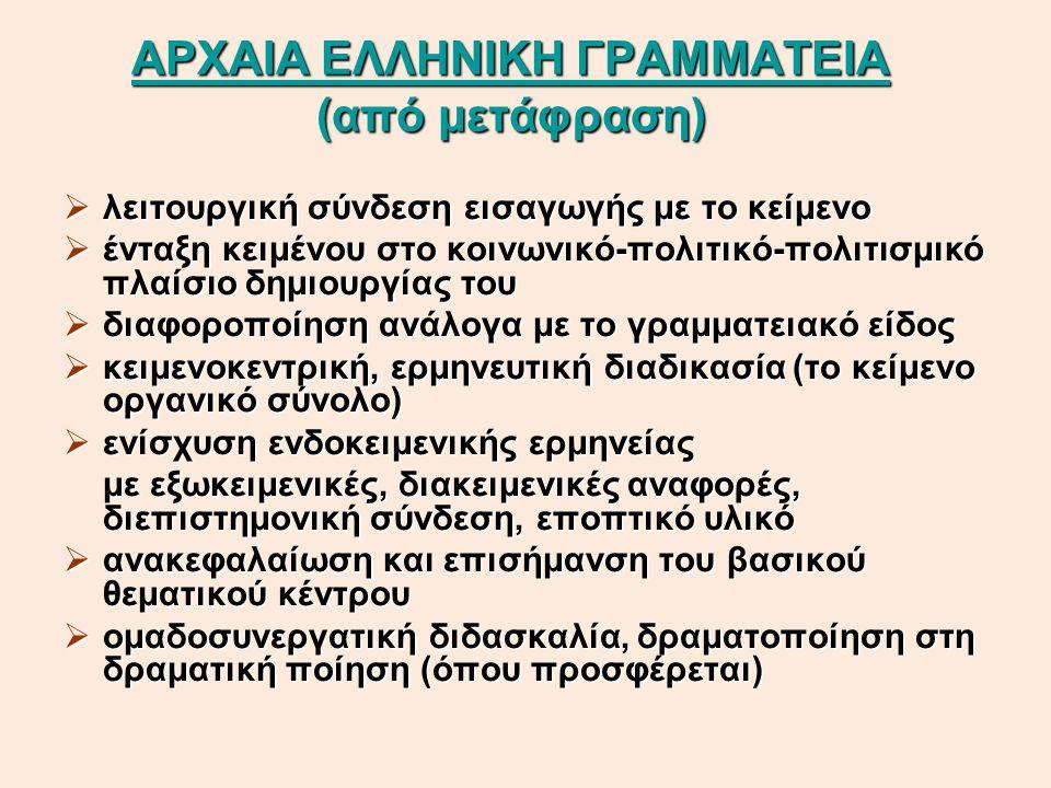 ΑΡΧΑΙΑ ΕΛΛΗΝΙΚΗ ΓΡΑΜΜΑΤΕΙΑ (από μετάφραση)