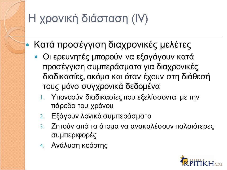Η χρονική διάσταση (ΙV)