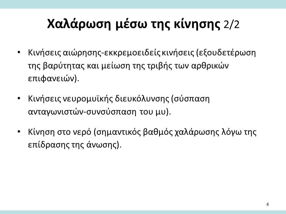 Άλλοι τρόποι χαλάρωσης 1/2